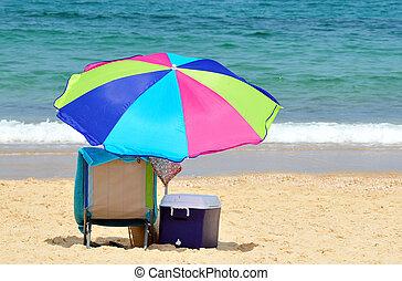 stoel, strand
