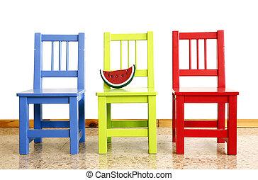 stoelen, babykamer