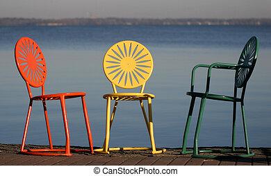 stoelen, gemoedelijk, uw