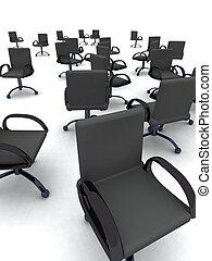 stoelen, kantoor
