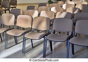 stoelen, rijen