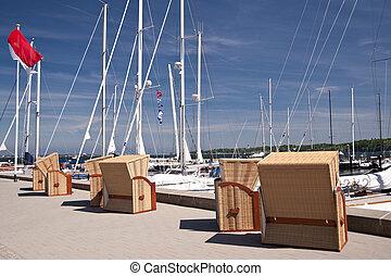 stoelen, strand