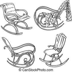 stoelen, wiegen