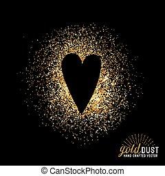 stof, vector, liefde, goud
