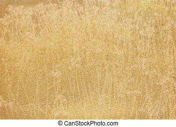 stoff, goldlicht, gelber , beschaffenheit, grungy, gebraeunte