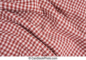 stoff, rot & weiß, kattun