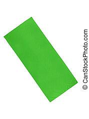 stoffa, bianco, verde, isolato, fondo
