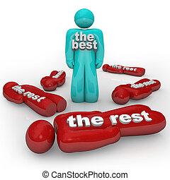 stoi, zdobywa, zwycięzca, odpoczynek, jeden, vs, sam, najlepszy