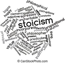 Stoicism - Abstract word cloud for Stoicism with related...