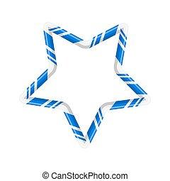 stok, ster, vrijstaand, versuikeren, ontwerp, achtergrond, witte kerst
