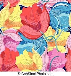 stok-vektor-delicate-tulips
