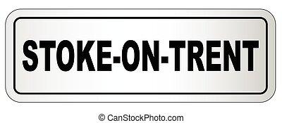 Stoke On Trent City Nameplate - The city of Stoke On Trent...