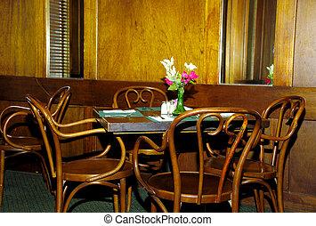 stol, bord