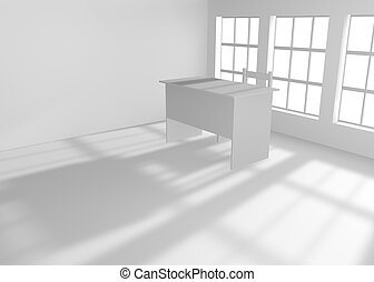 stol, bordläggar, rum, tom