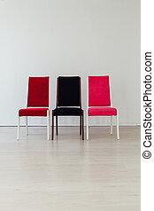 stol, inre, vit, tre, kontor, tom