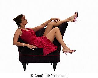 stol, kvinde