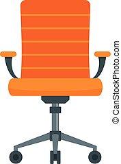 stol, skrivbord, hjul, ikon, stil, lägenhet