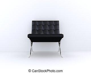 stol, svart