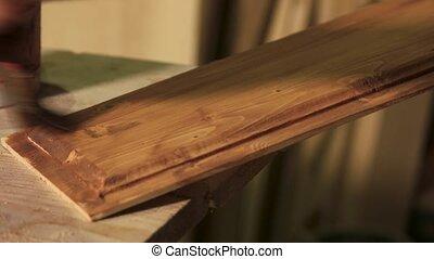 stolarz, drewniany, lacquer., przykrycie, deska