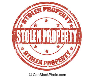 Grunge rubber stamp with text Stolen property, vector illustration