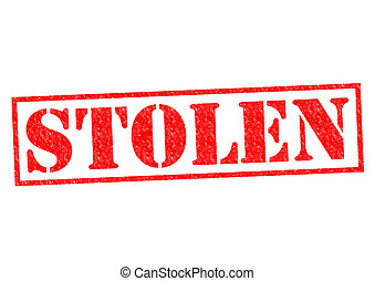 STOLEN red Rubber Stamp over a white background.