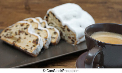 stollen and coffee