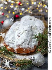 Stollen fruit, christmas stollen.