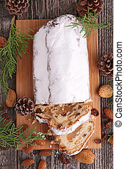 stollen fruit, christmas stollen