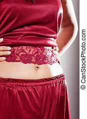Stomach belly   Indian girl