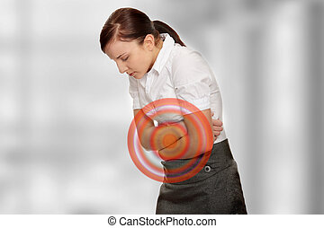 Stomach issues - Young woman with stomach issues