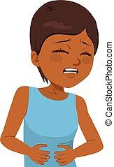 Stomachache Pain Girl