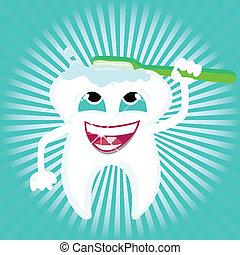 stomatologiczne zdrowie, troska, ząb