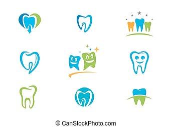 stomatologiczny, logo, szablon