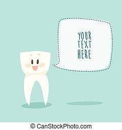 stomatologist, morsom, tand, sunde tænder, lejlighed