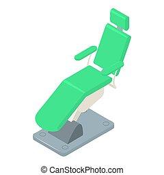 Stomatology chair icon, isometric style