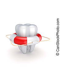 Stomatology concept.Isolated on white background.3d rendered...