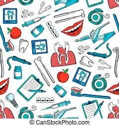 stomatology, e, odontologia, seamless, fundo