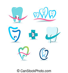 stomatology., fogászati, icons.