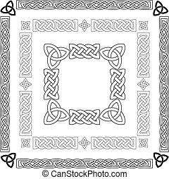 stommar, keltisk, vektor, knopar, mönster