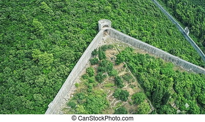 Ston on Peljesac peninsula, aerial