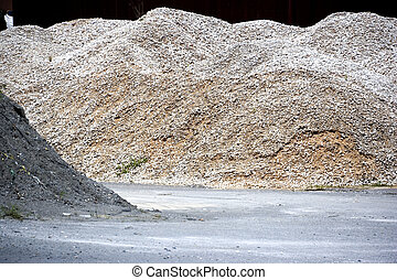 Image of a granite stone aggregate meant for road construction at a rock quarry in Malaysia.