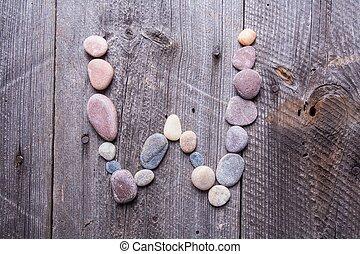 Stone alphabet - W