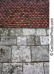 Stone And Brick Castle Wall Background
