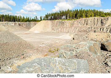 Stone and gravel quarry - Stones and gravel in quarry