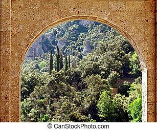 Stone arch.