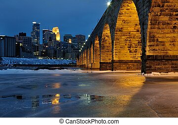 Stone Arch Bridge in Minneapolis