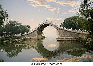 stone arch bridge in summer palace