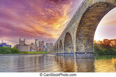 Stone Arch Bridge - Minnneapolis at the Stone Arch bridge