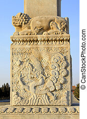 stone archway pillar sculpture