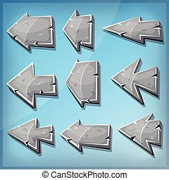 Stone Arrows Signs For Ui Game